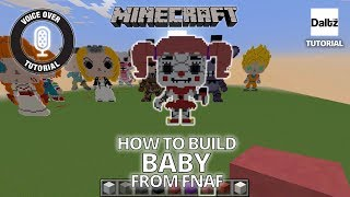 Minecraft Pixel Art - Baby FNAF - Funko Pop Statue - Tutorial