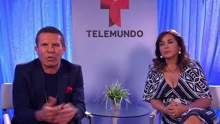"""Julio César Chávez y su esposa Myriam Escobar en entrevista por la serie """"El César"""""""
