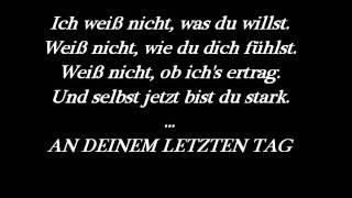 Bela B. - Letzter Tag + Lyrics
