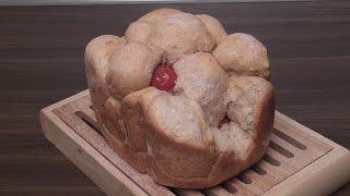 Разборный хлеб с сыром и вялеными помидорами в хлебопечке. Готовим дома.