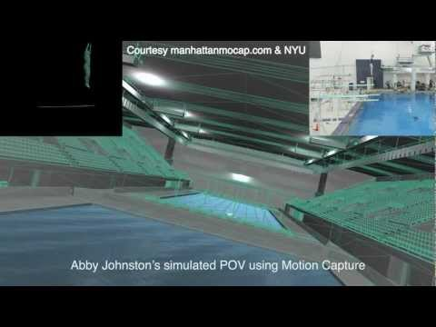 Abby Johnston Olympic 2012 Silver Medalist POV view of her signature Dive