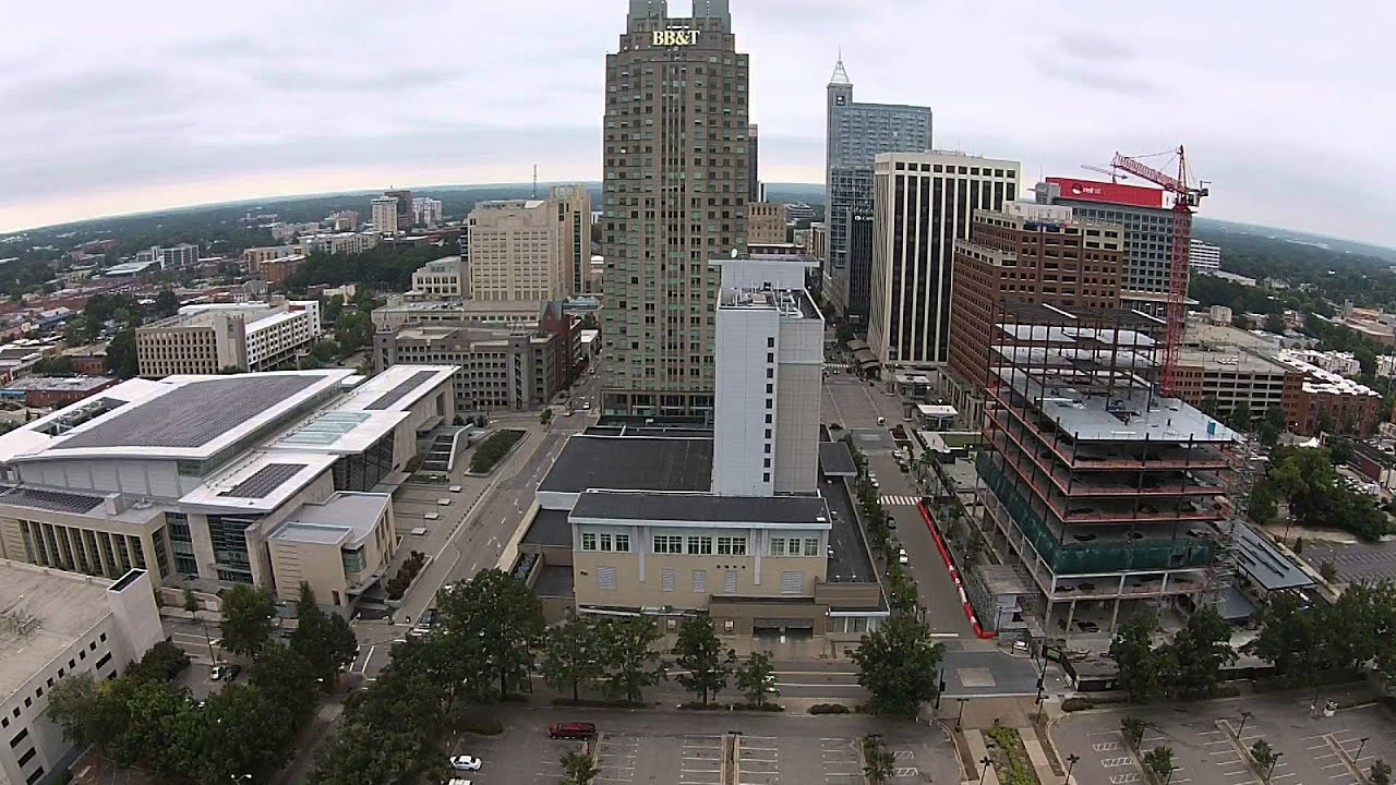 downtown raleigh aerial view youtube. Black Bedroom Furniture Sets. Home Design Ideas