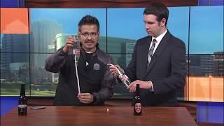 Anti-Gravity Bottle Science Magic Trick Fox45 | Mister C TV