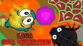 Mope.io LAVA SEA MONSTER!!! NEW MONSTER UPDATE ON THE BETA SERVER!!! (Mope.io New Beta Update)