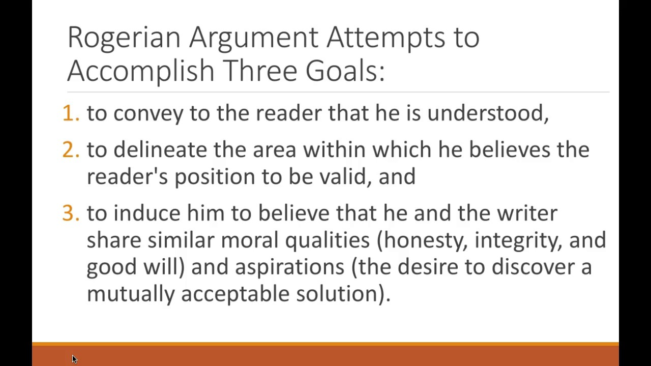 Example of rogerian argument essay