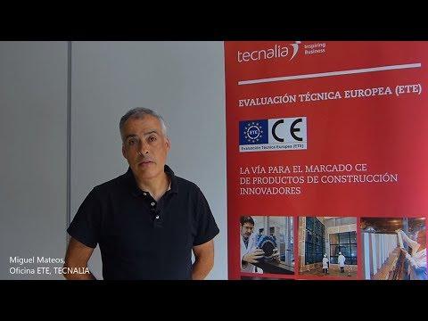 <p>Entrevista al Responsable de Evaluación Técnica Europea (ETE), vía para el Marcado CE de productos de construcción innovadores</p>