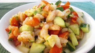 Shrimp Ceviche - Ceviche de Camaron - PoorMansGourmet