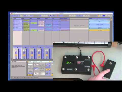 dmc 6d ableton live midi foot controller extender switch demo youtube. Black Bedroom Furniture Sets. Home Design Ideas