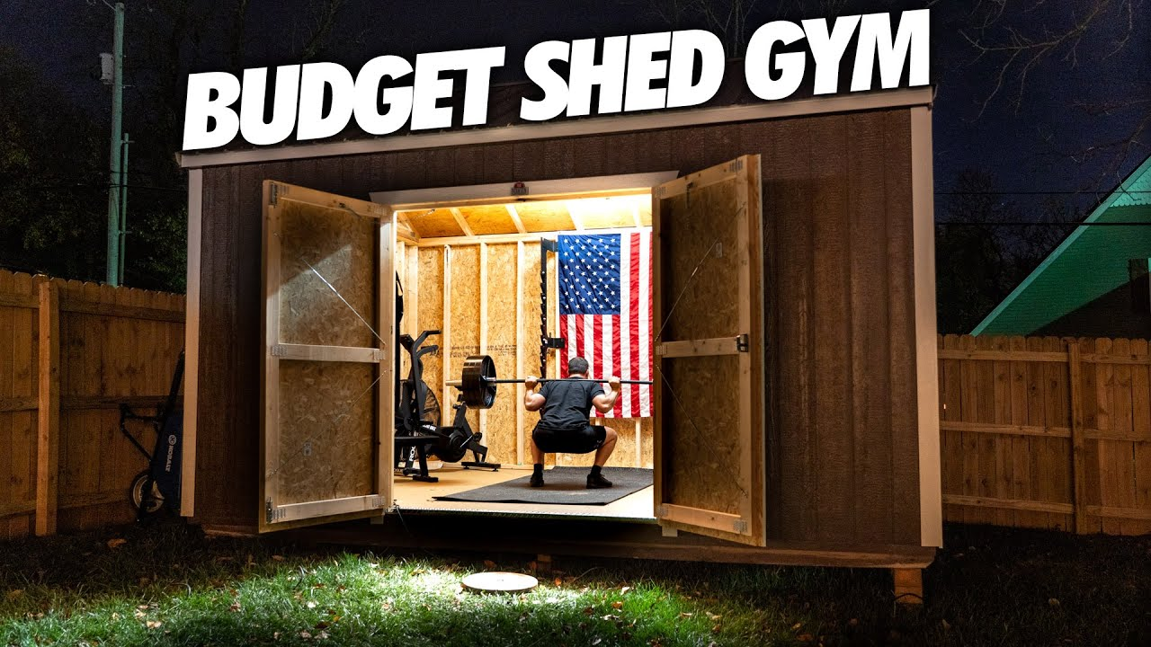 I Built A Budget Home Gym In A Backyard Shed Youtube