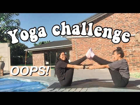 the yoga challenge ft my sister fail  youtube