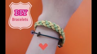 DIY Bracelets 手繩教學 - 斜紋/Twill (皮繩) #4