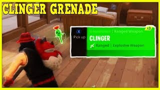 Fortnite: CLINGER GRENADE GAMEPLAY! *NEW* CLINGER GRENADE UPDATE GAMEPLAY | Fortnite!