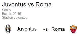 Live Score : Juventus Vs AS Roma, 17th December 2016 , Serie A 2016/17