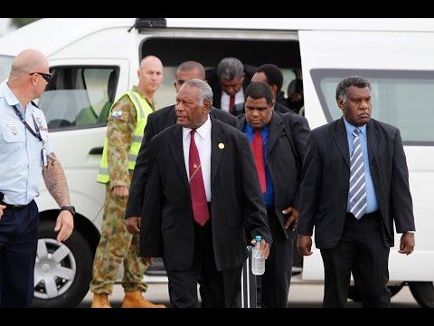 President of Vanuatu and FRNSW depart RAAF Richmond