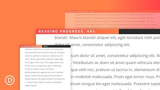How to Build a Reading Progress Bar for your Divi Blog Posts without a plugin
