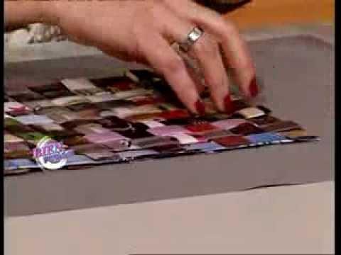 Silvina Buquete  - Bienvenidas TV -  Realiza una canasta en cestería.