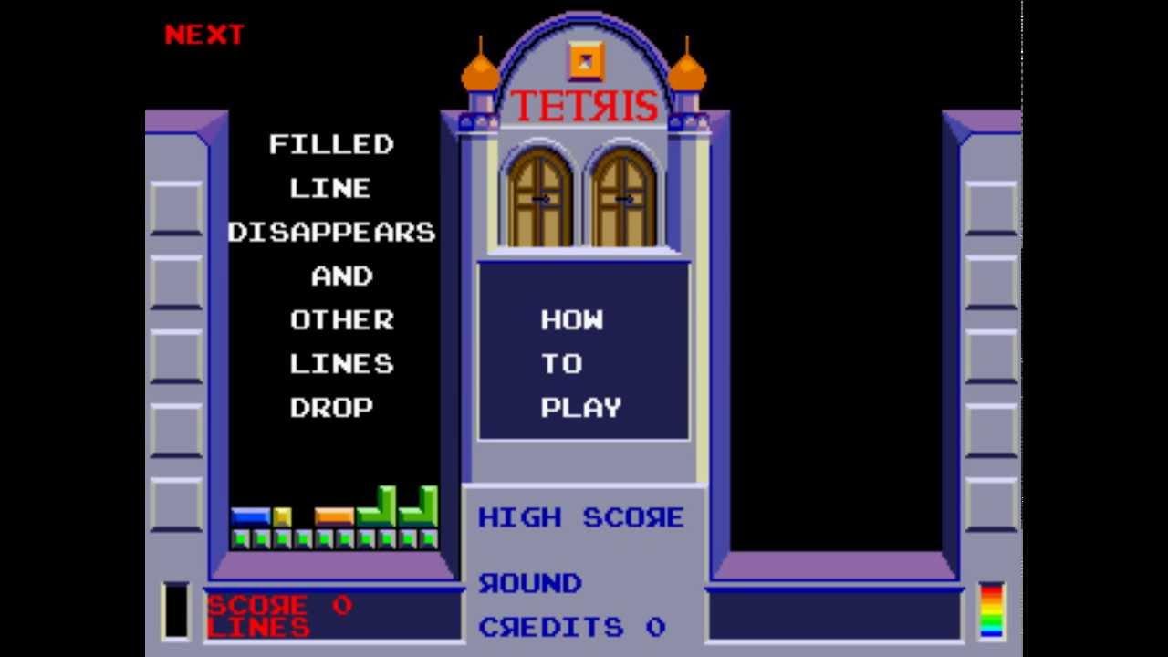 Tetris Arcade, Atari (North American) version (Gameplay ...
