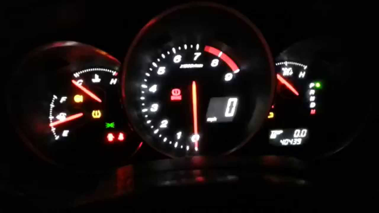 Mazda RX8 dash lights white and red  YouTube