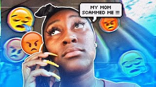 MY MOM SCAMMED ME!!! ( VLOGTOBER DAY 2 )
