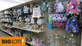 BIG LOTS EASTER DECOR SPRING 2019 - SHOP WITH ME SHOPPING STORE WALK THROUGH 4K