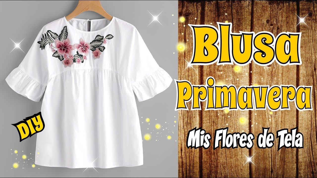Blusa con Parche Bordado de Flores DIY Costura Facil - YouTube