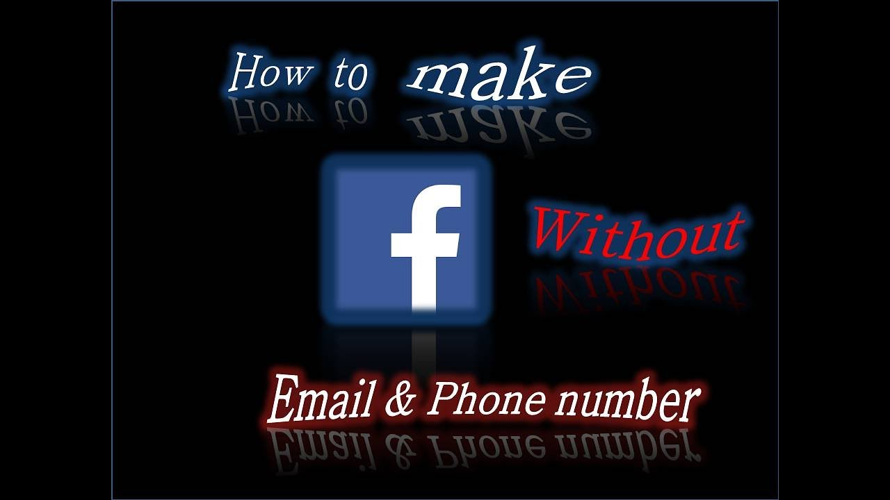 how to create facebook account without phone number 2017