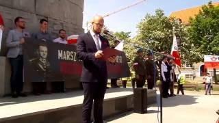 Gdański Marsz Pileckiego - przemówienie Dawid Krupej