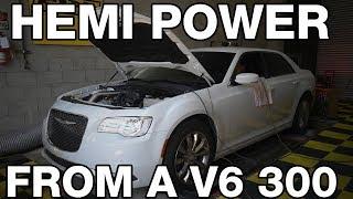 Boosted Chrysler 300 V6 makes HEMI POWER!
