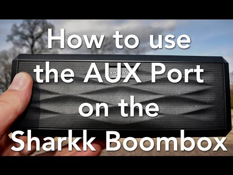 How to use the AUX Port on the Sharkk Boombox Bluetooth Speaker