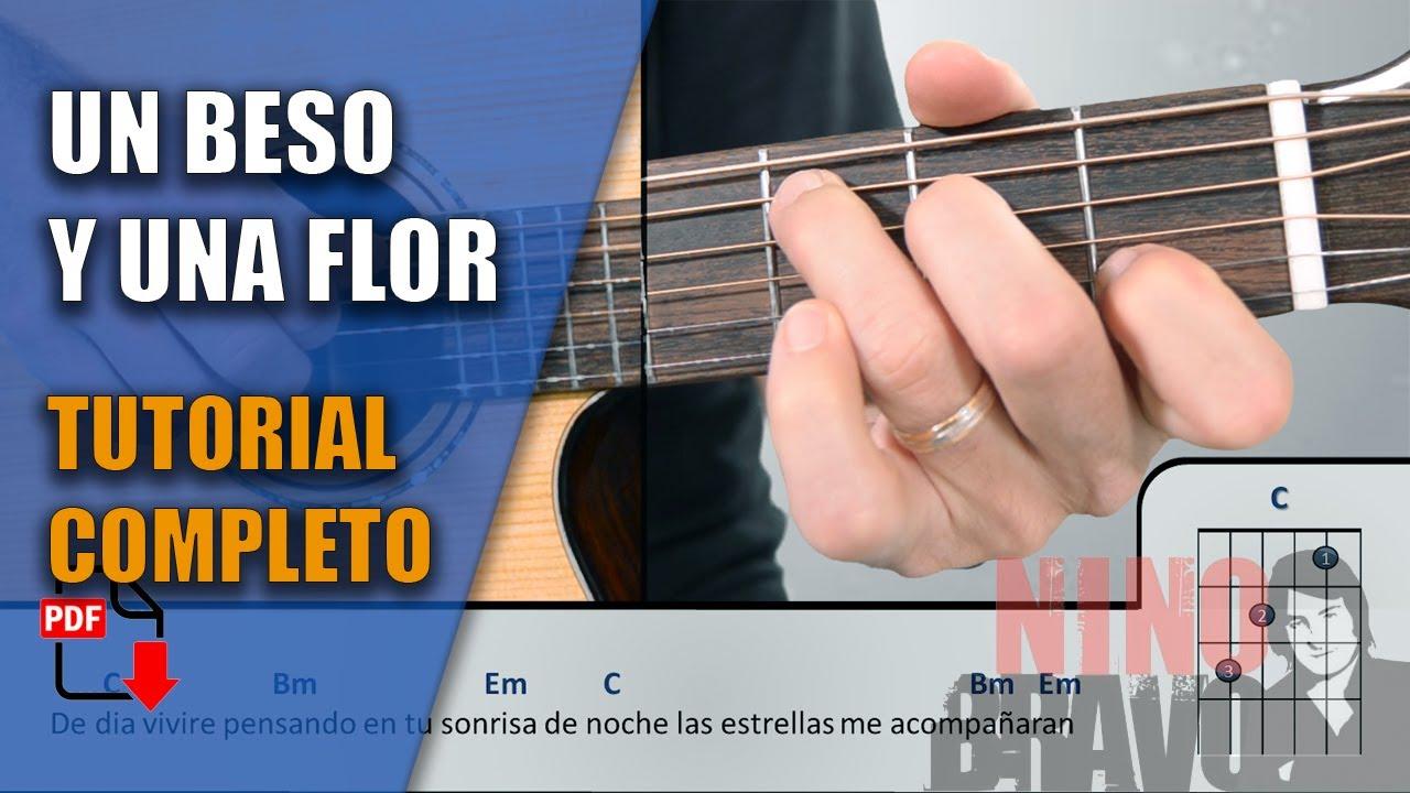 Un Beso Y Una Flor Nino Bravo Pdf Gratis Tutorial Cover Youtube