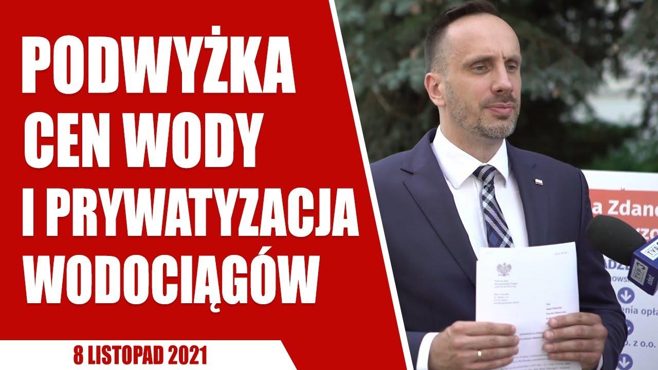 Łódź: konferencja z Piotrem Ciepluchą w sprawie podwyżek cen za wodę i prywatyzacji wodociągów!