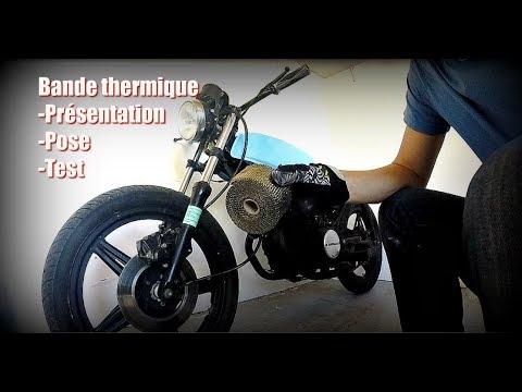 unboxing pose test bande thermique sur chappement moto youtube. Black Bedroom Furniture Sets. Home Design Ideas