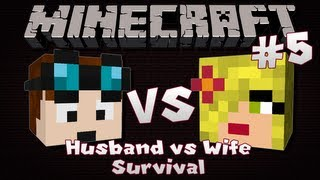 Minecraft | Husband VS Wife SURVIVAL | Episode 5 | Race To The End!