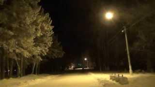 Лесосибирск ночной, набережная 26 ноября ночь 2013 год