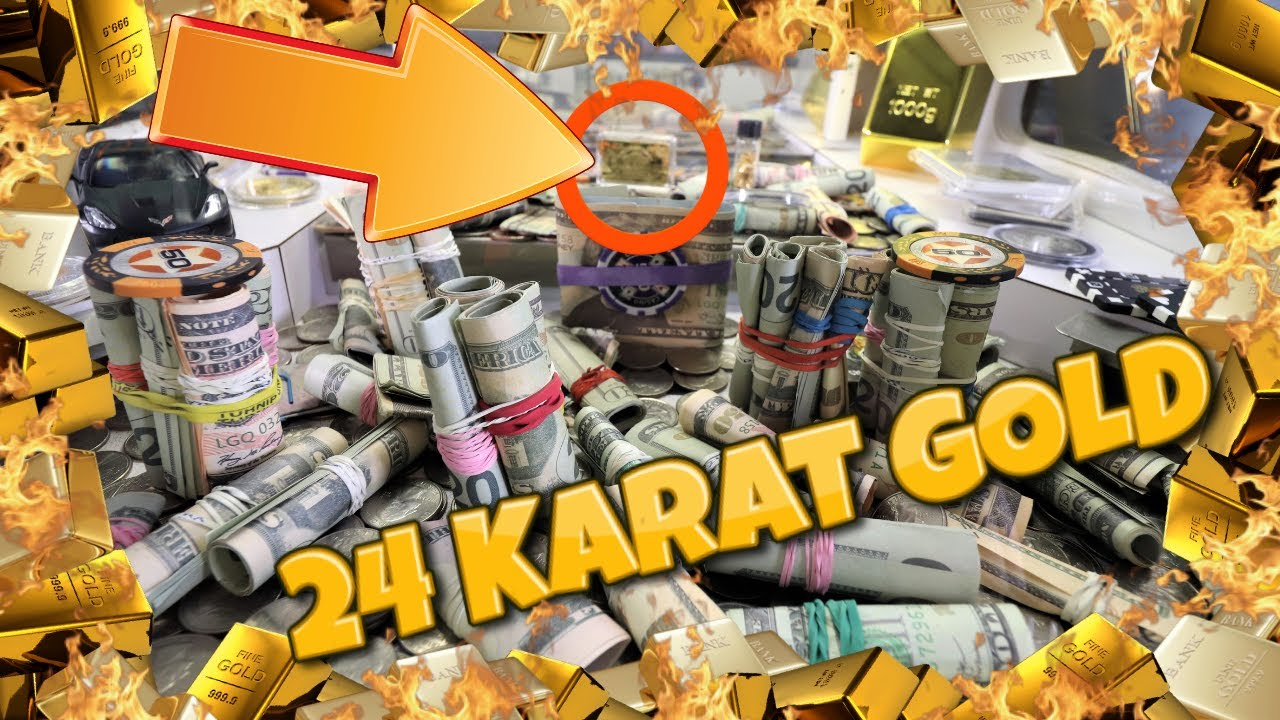 24 karat Gold Bar!! HUGE WIN High Limit Coin Pusher!