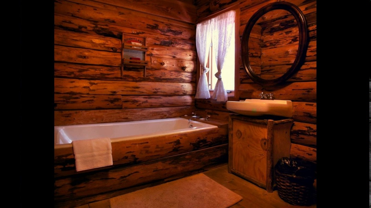Log cabin bathroom designs - YouTube