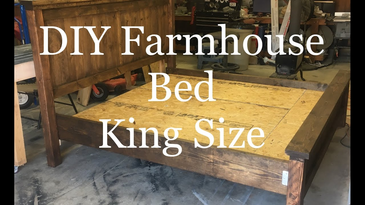 Diy How To Build A Farmhouse King Size Bed Farmhouse
