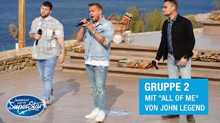"Gruppe 02: Kevin, Jan B. & Marvin mit ""All Of Me"" von John Legend 
