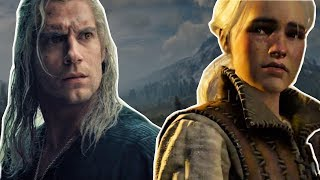 Geralt Meets Ciri in the Woods - The Witcher 3 vs Netflix's The Witcher TV Show | Mash Up