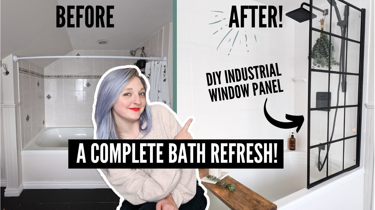 My shower gets a budget-friendly DIY refresh! | HOME MADE HOME | DIY Danie