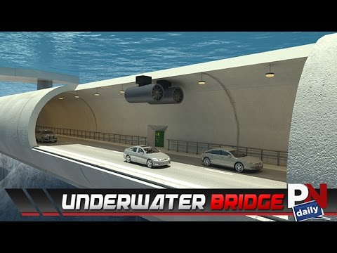An Underwater Bridge Tunnel In Norway!