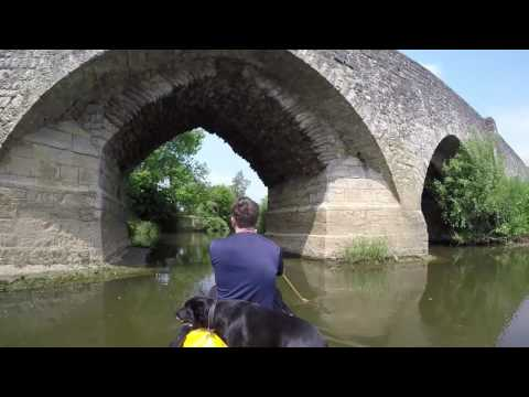 canoeing the Medway at yalding