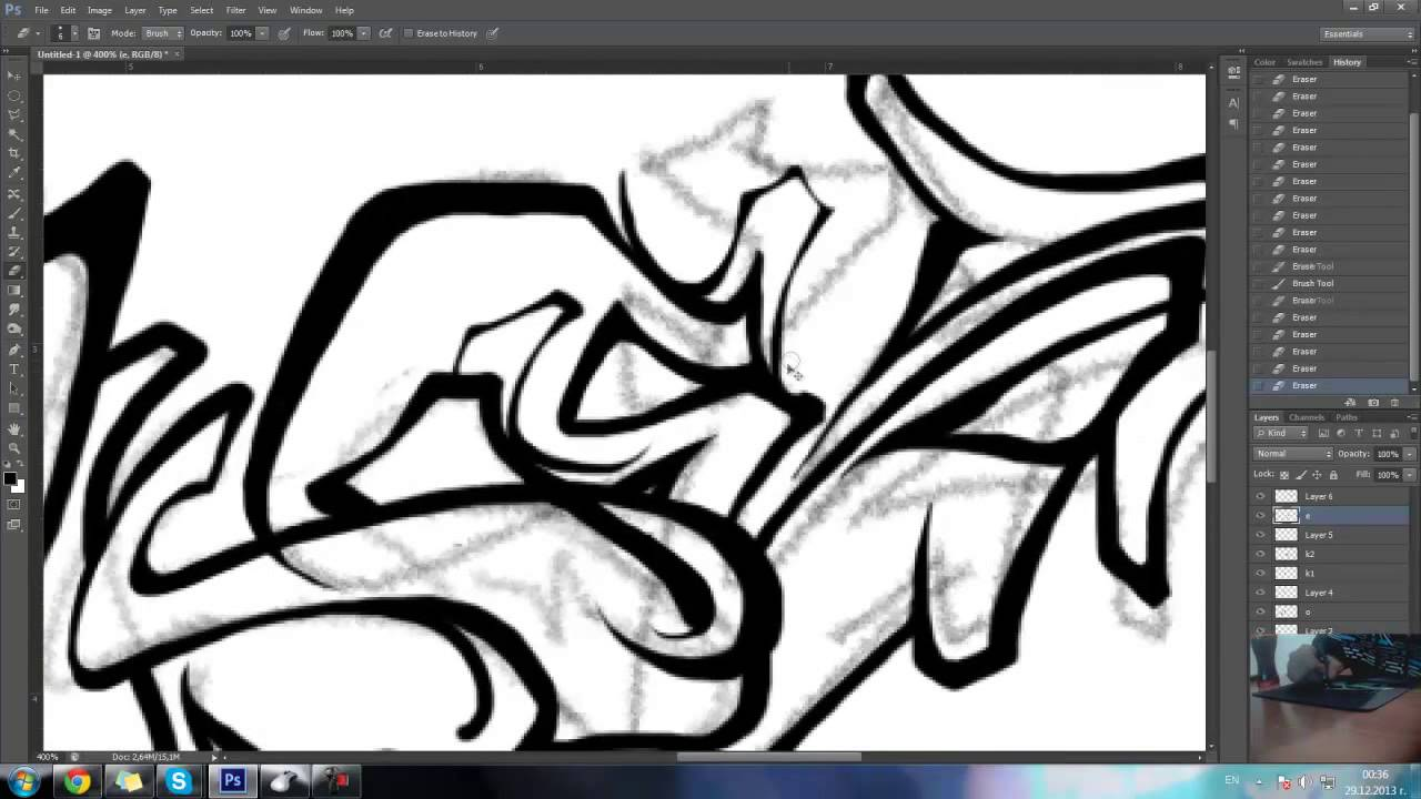 Pen mouse graffiti test | Photoshop Speedart | By soke