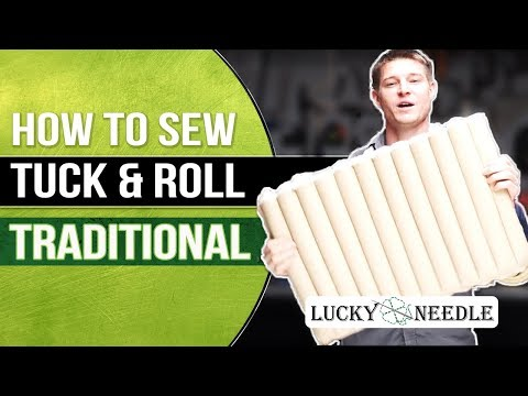 How To Sew Tuck & Roll Upholstery | Traditional | Cotton Stuffed