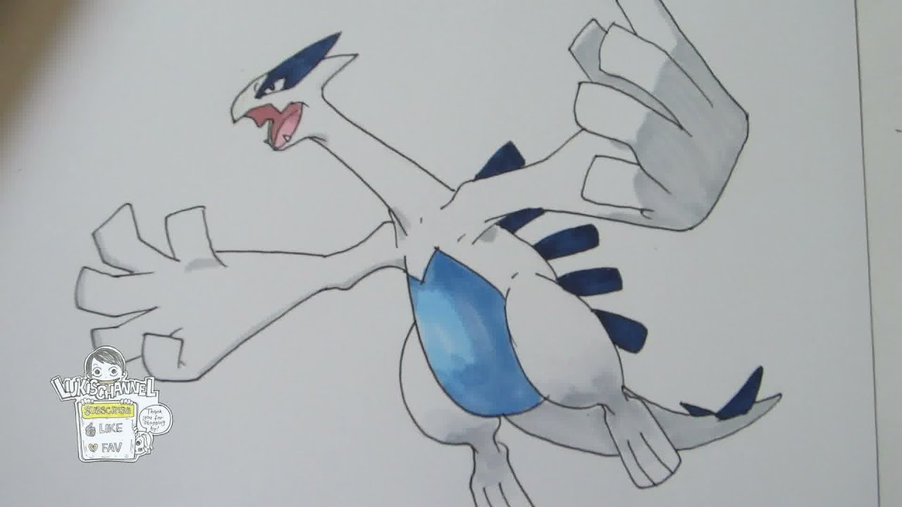 How to Draw Lugia - Learn to draw Mew and other Pokemon Step by ...