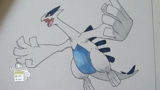 How to draw Pokemon: No.249 Lugia ルギア