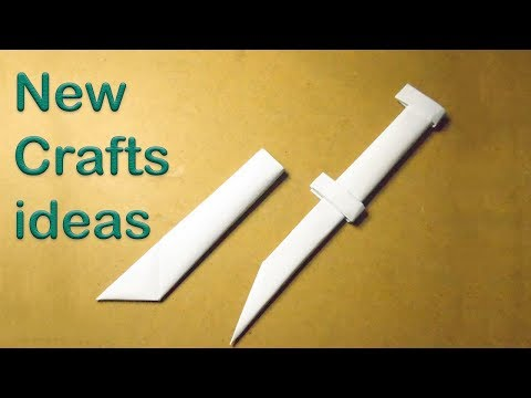 How to make a 🔪 DAGGER || knife ||  with a scabbard from A4 paper