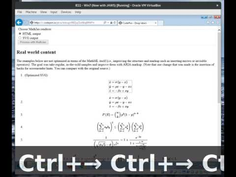 Deep Labels In MathJax Output - HTML/CSS - JAWS, IE11, Windows 7