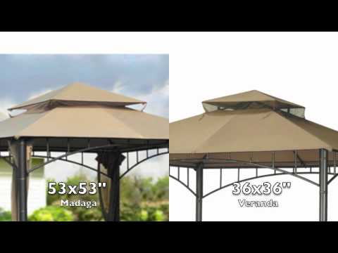 Replacement Canopy for Target Summer Veranda Gazebo & Replacement Canopy for Target Summer Veranda Gazebo - YouTube