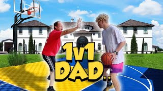 My Dad Wanted A Rematch! 1V1 Basketball!